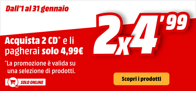 2x4,99 su CD musicali - mediaworld.it