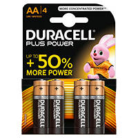 DURACELL Batteria Plus Power B4 Stilo AA 4pz