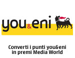 Converti i tuoi punti you&eni in premi Media World